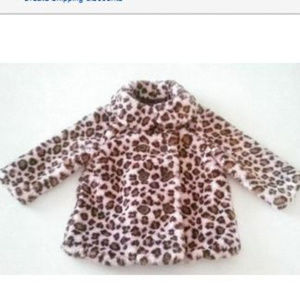 Gymboree KITTY GLAMOUR Leopard Faux Fir Jacket